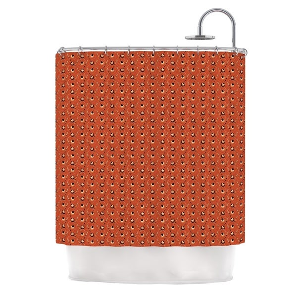 KESS InHouse Holly Helgeson Deco Arrows Red Pattern Shower Curtain (69x70)
