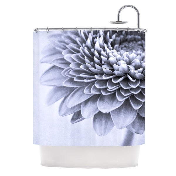 KESS InHouse Iris Lehnhardt A Flower Grey Petals Shower Curtain (69x70)