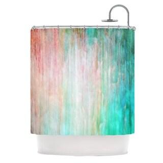 KESS InHouse Iris Lehnhardt Color Wash Teal Blue Turquoise Shower Curtain (69x70)