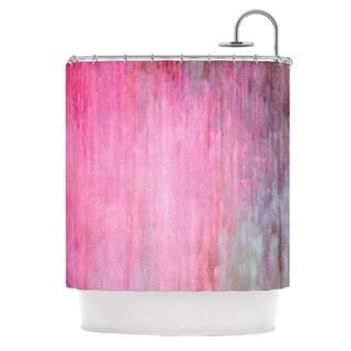 KESS InHouse Iris Lehnhardt Color Wash Pink Blush Paint Shower Curtain (69x70)