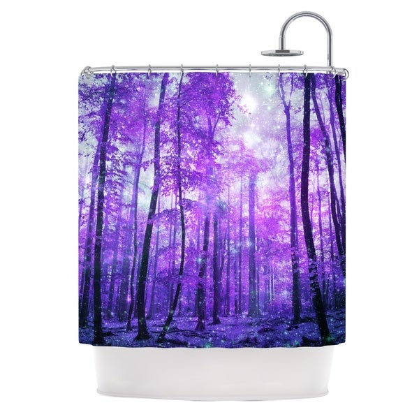 KESS InHouse Iris Lehnhardt Magic Woods Purple Forest Shower Curtain (69x70)