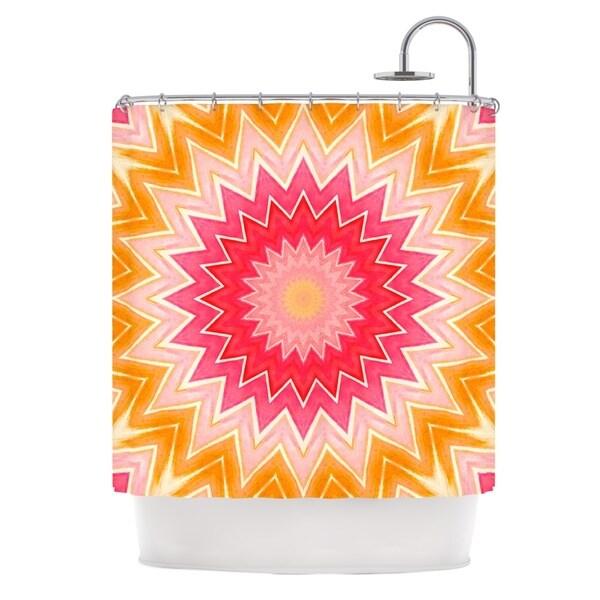 KESS InHouse Iris Lehnhardt You are my Sunshine Pink Orange Shower Curtain (69x70)