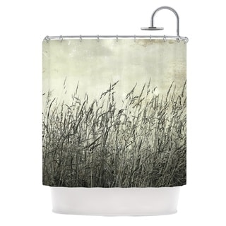 KESS InHouse Iris Lehnhardt Summer Grasses Neutral Gray Shower Curtain (69x70)
