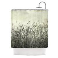 KESS InHouse Iris Lehnhardt Summer Grasses Neutral Gray Shower Curtain (69x70)