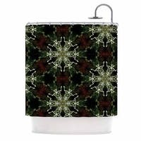 KESS InHouse Gukuuki Mandala Lights Black Abstract Shower Curtain (69x70)