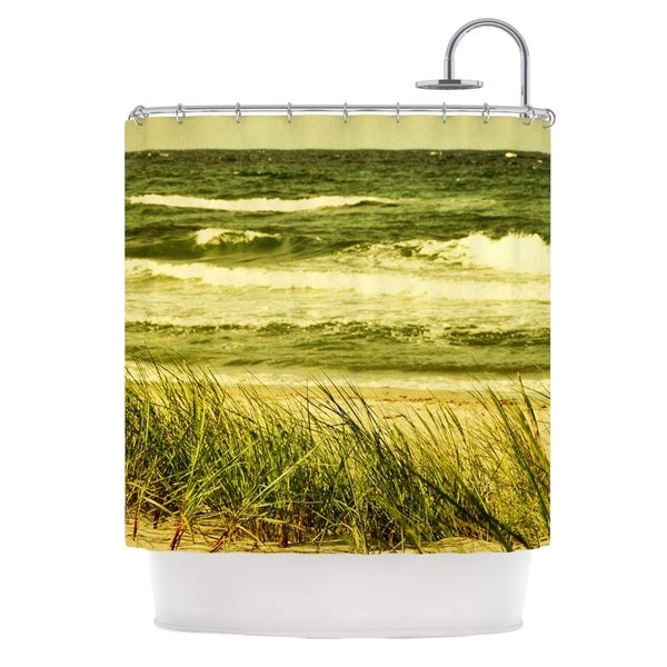 KESS InHouse Iris Lehnhardt Dunes and Waves Water Green Shower Curtain (69x70)