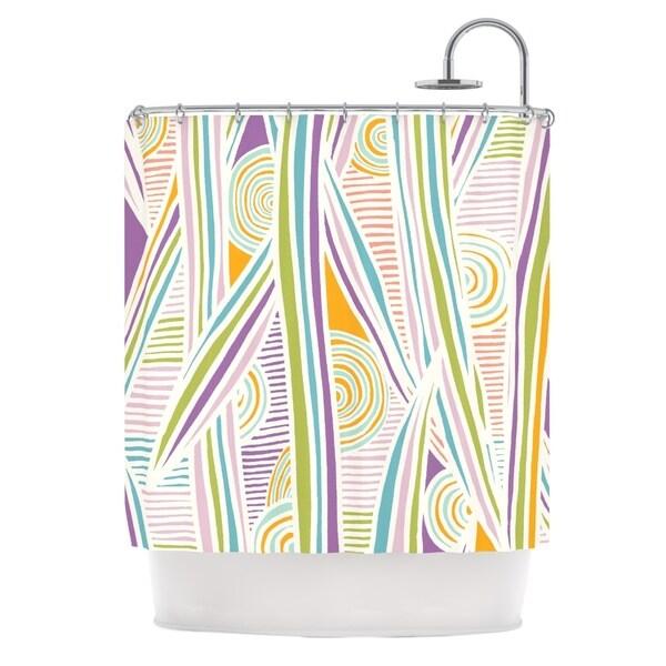 KESS InHouse Emine Ortega Graphique White Shower Curtain (69x70)