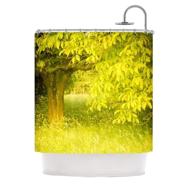 KESS InHouse Iris Lehnhardt Summer Tree Green Shower Curtain (69x70)