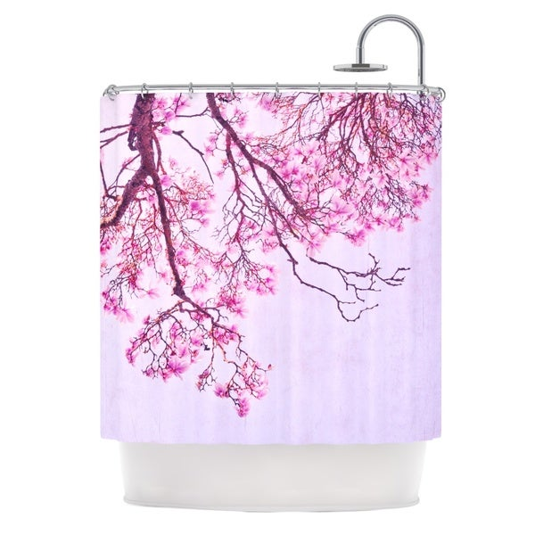KESS InHouse Iris Lehnhardt Magnolia Trees Pink Branches Shower Curtain (69x70)