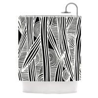KESS InHouse Emine Ortega Graphique Black Shower Curtain (69x70)