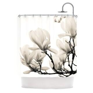 KESS InHouse Iris Lehnhardt Magnolia Blossoms White Floral Shower Curtain (69x70)