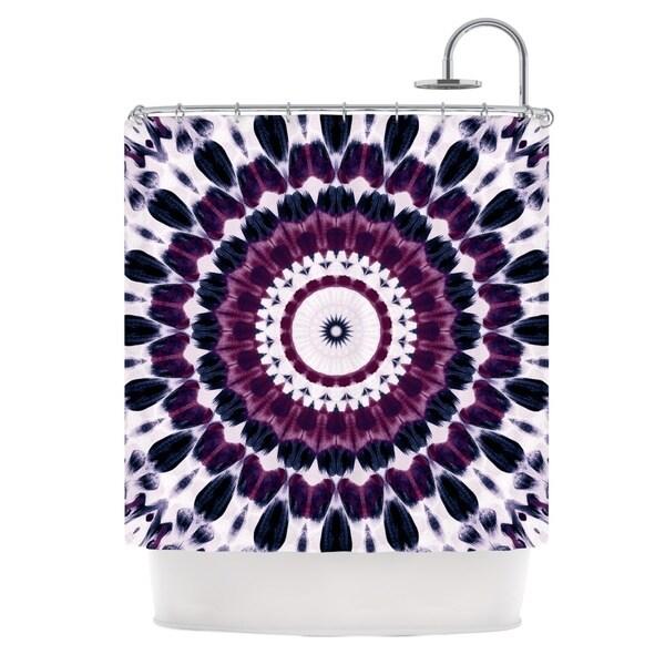 "KESS InHouse Iris Lehnhardt ""Batik Pattern"" Purple Geometric Shower Curtain (69x70) - 69 x 70"