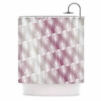 "KESS InHouse Gukuuki ""Stripe Palms"" Pink White Shower Curtain (69x70) - 69 x 70"