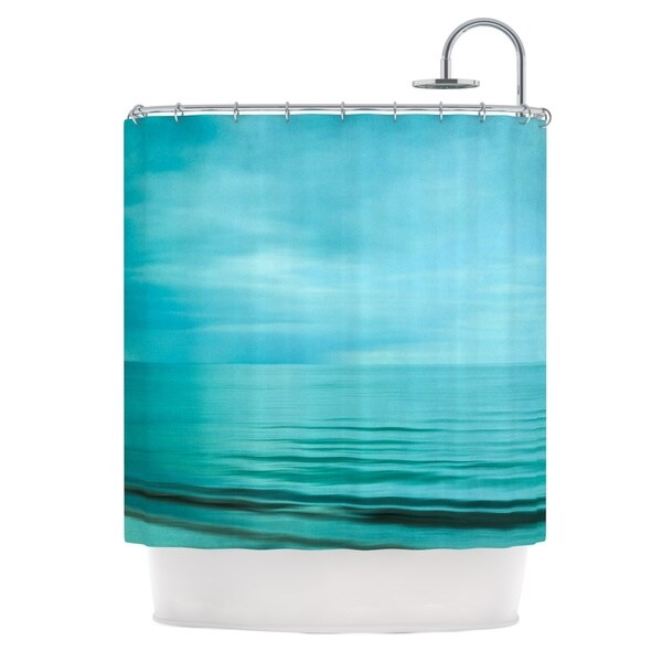 KESS InHouse Iris Lehnhardt Calm Sea Blue Teal Shower Curtain (69x70)