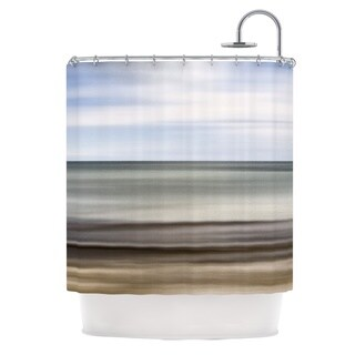KESS InHouse Iris Lehnhardt Abstract Beach Gray Brown Shower Curtain (69x70)