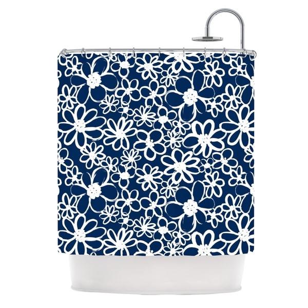 KESS InHouse Emine Ortega Daisy Lane Shower Curtain (69x70)