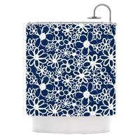 KESS InHouse Emine Ortega Daisy Lane Shower Curtain (69x70)