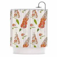 KESS InHouse Gukuuki Barika Belva Coral Floral Shower Curtain (69x70)