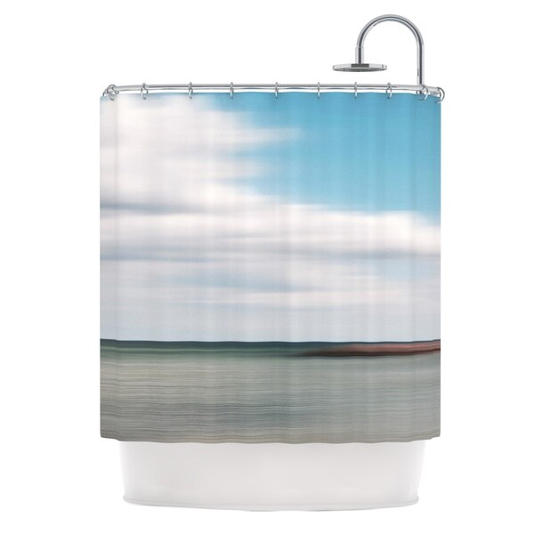 KESS InHouse Iris Lehnhardt June Beach Gray Blue Shower Curtain (69x70)