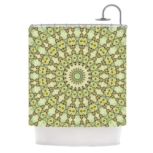 KESS InHouse Iris Lehnhardt Kaleidoscope Green Geometric Shower Curtain (69x70)