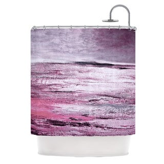 Laura Ashley Iris Grey Cotton Shower Curtain Free