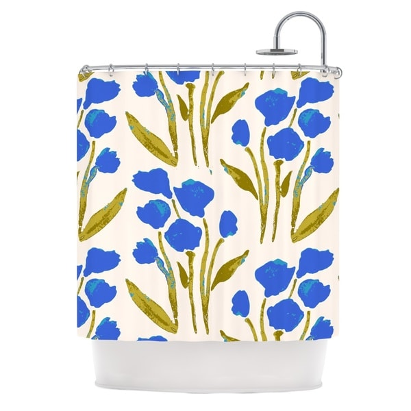 KESS InHouse Gukuuki Shirley Gem Blue Green Shower Curtain (69x70)