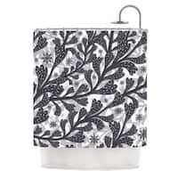KESS InHouse Akwaflorell Snow Houses Gray Abstract Shower Curtain (69x70)