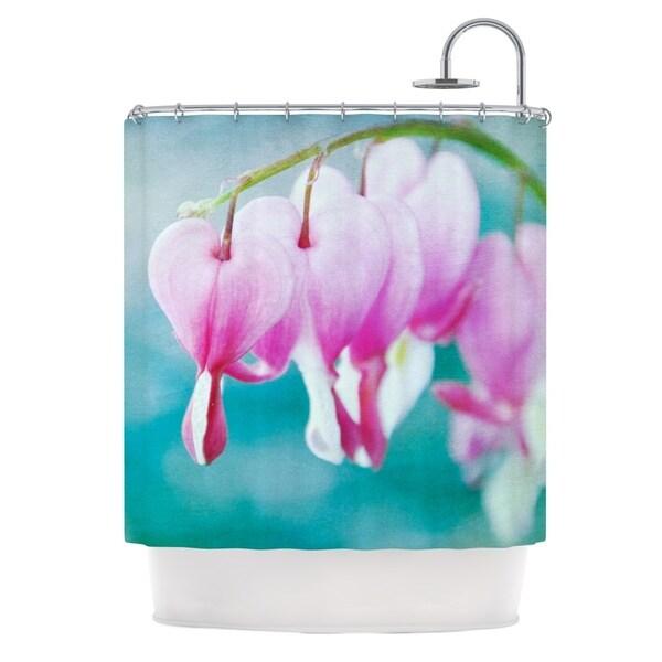 KESS InHouse Iris Lehnhardt Dicentra Teal Pink Shower Curtain (69x70)