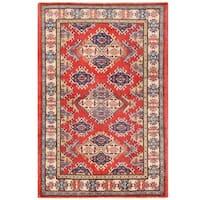 Herat Oriental Afghan Hand-knotted Vegetable Dye Tribal Kazak Wool Rug (3'9 x 5'8)