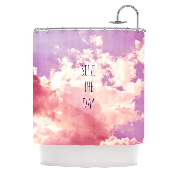 KESS InHouse Iris Lehnhardt Seize the Day Pink Purple Shower Curtain (69x70)