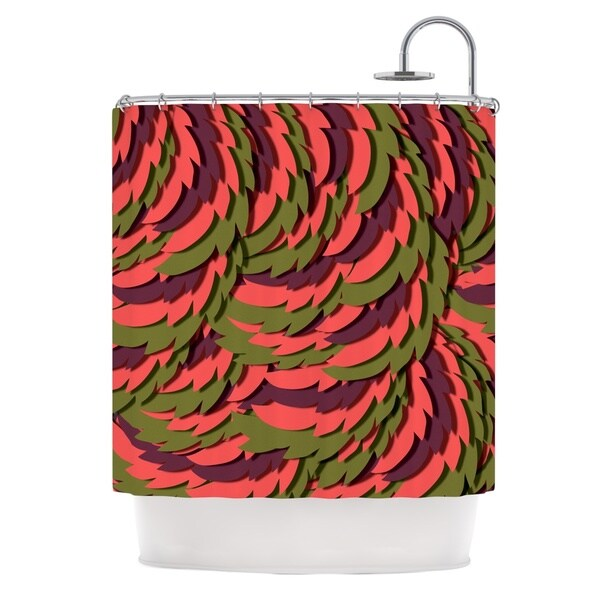 KESS InHouse Akwaflorell Wings III Red Brown Shower Curtain (69x70)