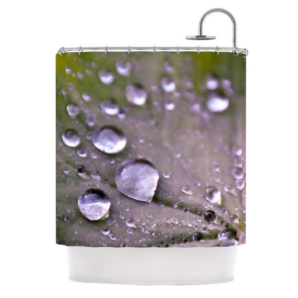 KESS InHouse Iris Lehnhardt Water Droplets Purple Lilac Shower Curtain (69x70)