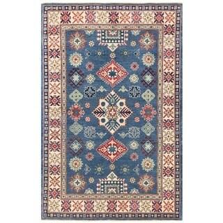 Herat Oriental Afghan Hand-knotted Vegetable Dye Tribal Kazak Wool Rug (3'10 x 5'10)