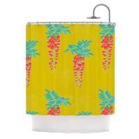 KESS InHouse Gukuuki Ipanema Yellow Shower Curtain (69x70)