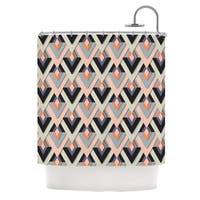 KESS InHouse Akwaflorell Sweet & Sharp Pink Green Shower Curtain (69x70)