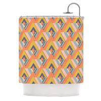 KESS InHouse Akwaflorell So Cool Orange Yellow Shower Curtain (69x70)