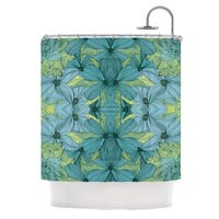 KESS InHouse Akwaflorell Blues in Blue Shower Curtain (69x70)