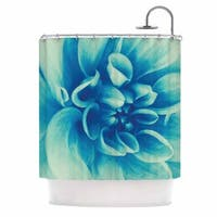 KESS InHouse Graphic Tabby Blue Beauty Teal Floral Shower Curtain (69x70)