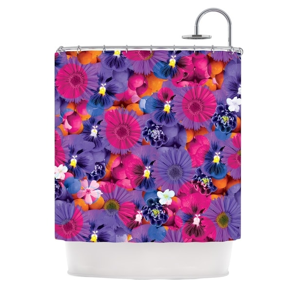 KESS InHouse Akwaflorell Find the Tiger Purple Pink Shower Curtain (69x70)