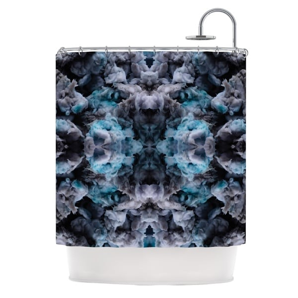 KESS InHouse Akwaflorell Abyss Blue Black Shower Curtain (69x70)