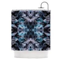 KESS InHouse Akwaflorell Abyss Blue Black Shower Curtain (69x70)