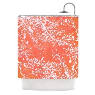 KESS InHouse Iris Lehnhardt Twigs Silhouette Coral Orange Shower Curtain (69x70)