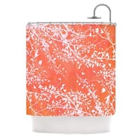 KESS InHouse Iris Lehnhardt Twigs Silhouette Coral Orange Shower Curtain (69x70)