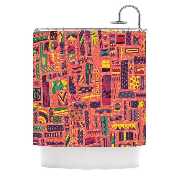 KESS InHouse Akwaflorell Squares Shower Curtain (69x70)