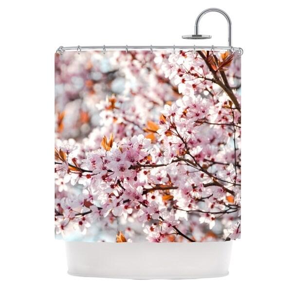 KESS InHouse Iris Lehnhardt Flowering Plum Tree Pink Blossoms Shower Curtain (69x70)
