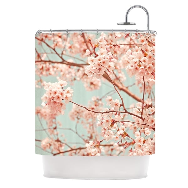KESS InHouse Iris Lehnhardt Blossoms All Over Flowers Shower Curtain (69x70)