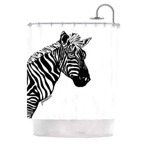 KESS InHouse Geordanna Cordero-Fields My Zebra Head Black White Shower Curtain (69x70)