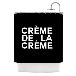 KESS InHouse Geordanna Cordero-Fields Creme De La Creme Black White Shower Curtain (69x70)