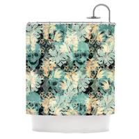 KESS InHouse Akwaflorell Dead's Head Party Shower Curtain (69x70)