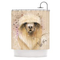 KESS InHouse Geordanna Cordero-Fields Llama Me Tan Shower Curtain (69x70)